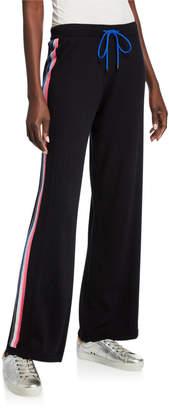 LISA TODD Racer Cotton/Cashmere Drawstring Wide-Leg Pants