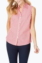 Foxcroft Elisa Gingham Sleeveless Shirt