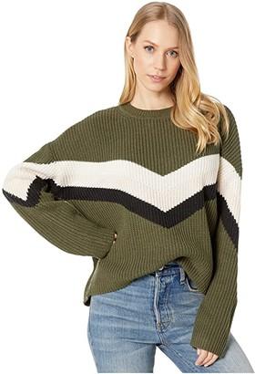 Sanctuary Apres Ski Sweater (Aspen Green/Cloud/Himalayan Salt/Black) Women's Clothing