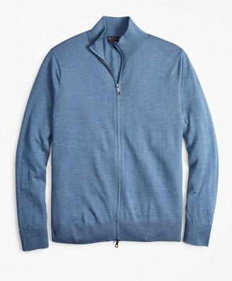 Brooks Brothers BrooksTech Merino Wool Full-Zip Sweater