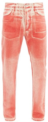 Helmut Lang High-rise Lacquered Jeans - Red