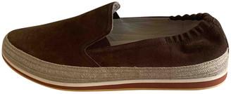 Prada Brown Suede Flats