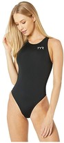 TYR Water Polo Breakaway One-Piece (Black) Women's Swimsuits One Piece