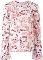 MM6 MAISON MARGIELA Fragile T-shirt - women - Cotton - L