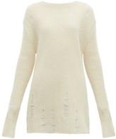 Jil Sander Laddered Wool-blend Sweater - Womens - Beige