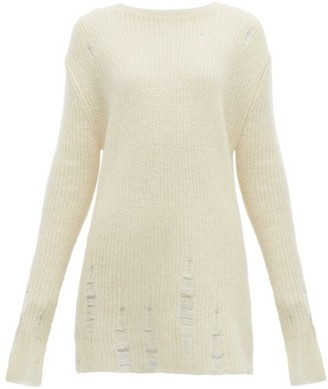Jil Sander Laddered Wool-blend Sweater - Beige