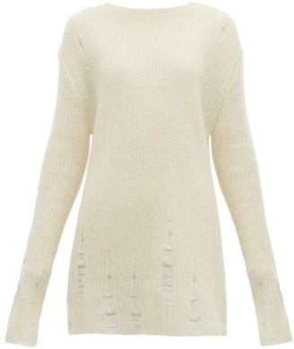 Jil Sander Laddered Wool Blend Sweater - Womens - Beige