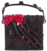 Alberta Ferretti Embellished Satin Bag