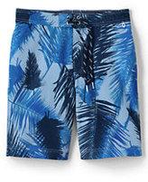 "Classic Men's 9"" Board Shorts-Burgundy/Ivory Stripe"