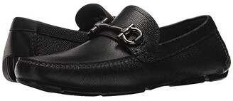 Salvatore Ferragamo Parigi Driving Loafer (Black) Men's Slip-on Dress Shoes