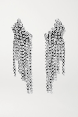 Isabel Marant Silver-tone Crystal Earrings - one size