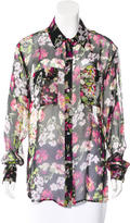 Equipment Silk Floral Print Blouse