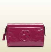 Gucci Soho Soft Patent Leather Cosmetic Case