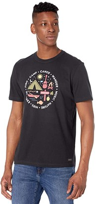 Life is Good All About Camp Crushertm Tee (Jet Black) Men's Clothing