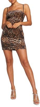 Tiger Mist Frankie Velvet Animal Print Mini Dress