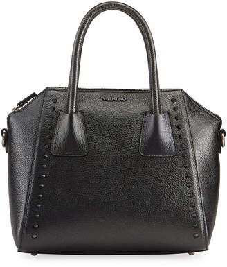 Mario Valentino Valentino By Minimi Preciosa Studded Leather Satchel Bag