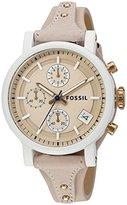 Fossil Women's ES4005 Original Boyfriend Sport Chronograph Blush Glaze Leather