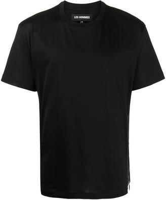 Les Hommes zip-embellished jersey T-shirt