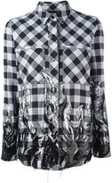 Filles a papa tribal sequinned checked shirt