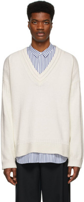 Juun.J Off-White Knit Cotton Sweater