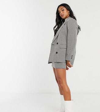 Topshop Petite check jacket in mono