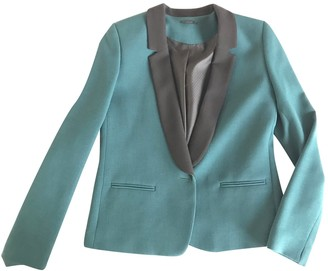 Ikks Green Cotton Jacket for Women