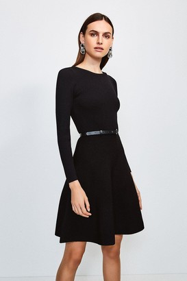 Karen Millen Knitted Crew Neck Skater Dress