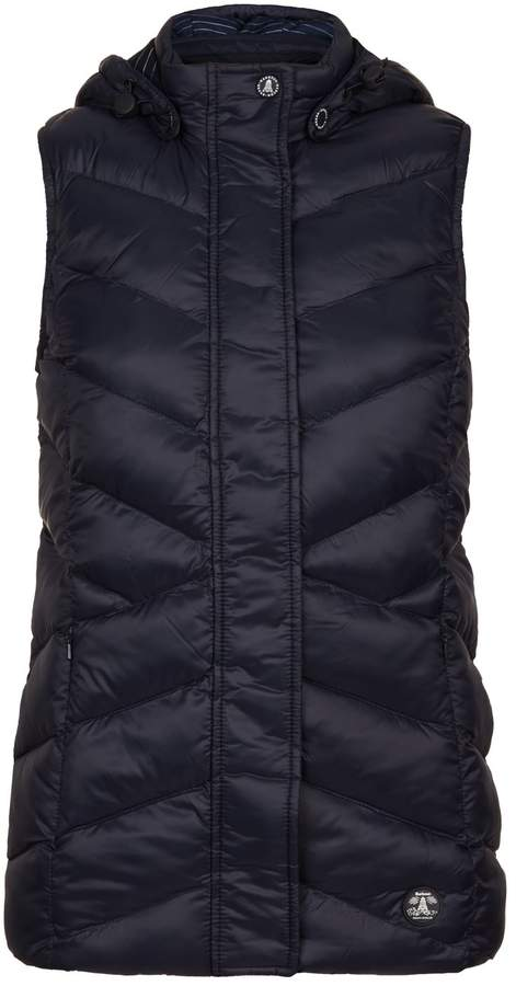 f66c06a8c Navy Quilted Gilet Jackets For Women - ShopStyle UK