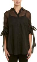IRO Sheer Silk & Cashmere-Blend Blouse