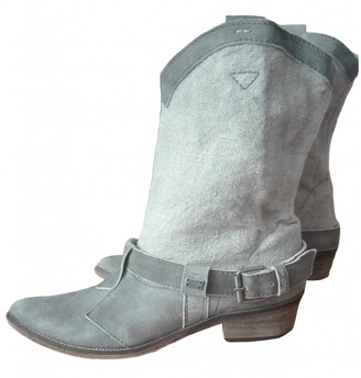 Non Signé / Unsigned Non Signe / Unsigned Beige Leather Ankle boots