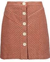 Maje Cotton-Blend Bouclé-Tweed Mini Skirt