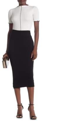 Blvd Pull-On Pencil Midi Skirt