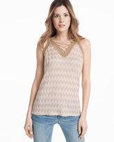 White House Black Market Sleeveless Lace Up Sweater