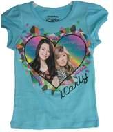 Nickelodeon Little Girls Icarly Heart Frame Print T-shirt