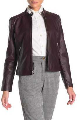 Andrew Marc Goldie Racer Leather Moto Jacket