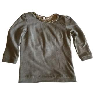 Dress Gallery Grey Cotton Top for Women