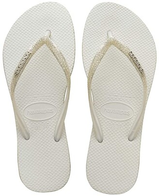 Havaianas Slim Sparkle Sandal (White) Women's Shoes