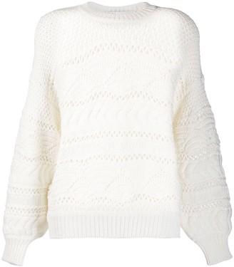 IRO Simius contrast knit jumper