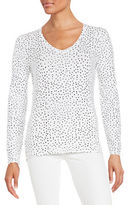 Lord & Taylor Compact Printed Tee