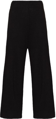 ST. AGNI Wide-Leg Cropped Linen Trousers