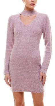 Planet Gold Juniors' Choker Sweater Dress