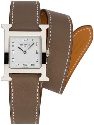 Hermes Heure Hour mm in Etoupe | FWRD