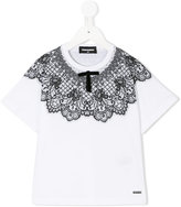 DSQUARED2 lace panel T-shirt - kids - Cotton - 8 yrs