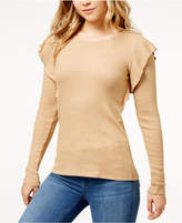 Lucky Brand Ribbed Ruffle Top