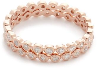 Shay 18k Double Row Diamond Gold Eternity Ring