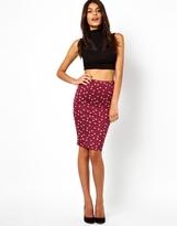 Asos Pencil Skirt in Hummingbird Print