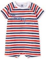 Petit Bateau Baby boy irregularly striped short coverall