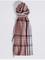 M&S Collection Printed Side Fringe Scarf