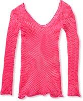 Leg Avenue Women's Lycra Industrial Fishnet Longsleeve T-Shirt