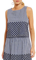 Daniel Cremieux Harlee Gingham Embroidered Blouse